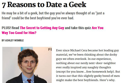 Cosmo Says To Date a Geek